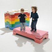 Rolf Heide Stapelliege für Kleinkinder, farbig (70 x 140 cm, mit Bodenplatte)