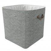 Aufbewahrungskorb Grey Knit, groß (gestrickt)