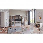 Kinderzimmer Set Cory 4-teilig mit Etagenbett