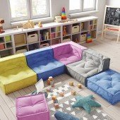 MyColorCube - Kinder Sofa Set A bunt, 6-teilig