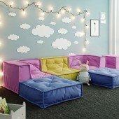 MyColorCube - Kinder Sofa Set B bunt, 6-teilig