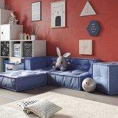 MyColorCube - Kinder Sofa Set C blau, 4-teilig