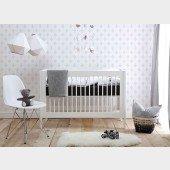 Basic Babybett in weiß, 60 x 120cm, MDF
