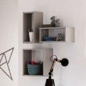Wandbox quadratisch - kieselgrau (Benne, Kira)