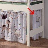 Einzelvorhang Afrika weiß/taupe (für 120/125/160 cm Betten/Etagenbetten)