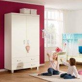 Biancomo Kleiderschrank mit 2 Türen und 2 Schubladen
