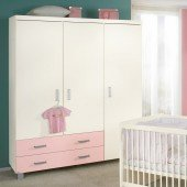 Biancomo Kleiderschrank mit 3 Türen und 2 Schubladen