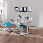 Diego Schreibtisch in weiß/ Eiche-Nautik, B 120 cm