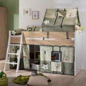 Fionn Spielbett 120 inklusive Canvas Style Textilien und Lattenrost