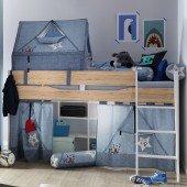 Fionn Spielbett 120 inklusive Jeans Style Textilien und Lattenrost
