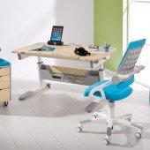 Set 16 - Schreibtisch Jaro in Birke-Nachbildung & Stuhl Yvo