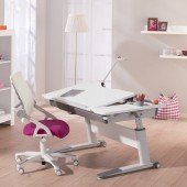 Set 15 - Schreibtisch Jaro in Kreideweiß & Stuhl Yvo