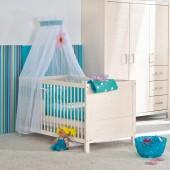 Pinetta Babybett - weiß