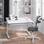 Diego Schreibtisch in weiß/kreideweiß, B 105 cm