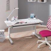Diego Schreibtisch in weiß/kreideweiß, B 120 cm