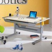 Tablo Schreibtisch Ecru mit Dekorset (Farbwahl)