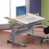 Tablo Schreibtisch Kreideweiß mit Dekorset (Farbwahl)