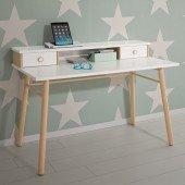 Ylvie Schreibtisch weiß/Birke