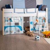 Vorhangset Holiday hellblau (für 120/125/160 cm Betten/Etagenbetten)