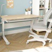 Luna Natur Set aus Schreibtisch mit Stuhl