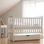 Babybett YappyMove weiß, 120 x 60 cm mit Schaukelfunktion