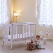 Babybett YappyQu weiß, 120 x 60 cm