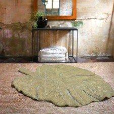 Waschbarer Teppich Monstera Leaf Olive in 120 x 180 cm