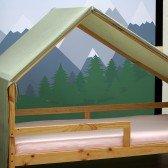 Betthimmel Grün für Hausbett Milo (90 x 200cm)