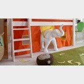 Bettvorhangset 902 für halbhohe Spielbetten (3 Leitersprossen)