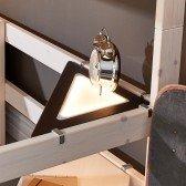 Eckablage mit LED Licht, schwarz (zum Einhängen an Lifetime-Betten)