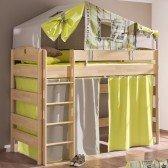 Spielvorhänge zweifarbig (für 155cm Betten)