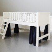 Blaue Vorhänge für halbhohes Bett (6 Teile)