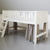Naturfarbene Vorhänge für halbhohes Bett (6 Teile)