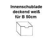 Schublade deckend weiß für 50cm Endlosschrank