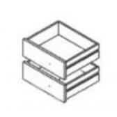Schubladenset weiß für Container 155