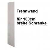 Trennwand whitewash für 100cm Schrank