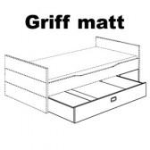 3/4 Bettkasten Kreideweiß, Griff matt (Fiona/Kira/Ylvie), 131 885 1