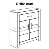 Highboard, matte Griffe, Fiona