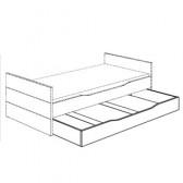 Unterschiebebett (90 x 190), ohne Rost (Fiona/KiraYlvie) 131 881 1 (für Liege und Etagenbetten)
