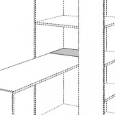 Schreibplatzverlängerung Basisschrank, Fionn