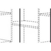 Einlegeboden 243 964 6 f. Eck-Kleiderschrank Fleximo