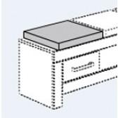 Sitzkissen für Lowboard (Mikrofaser) für Eike, Sophia, Fionn, Fiona, Ylvie  (B 44 / T 39 cm)