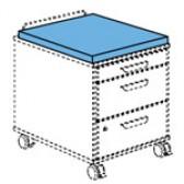 Tablo Sitzpolster azurblau