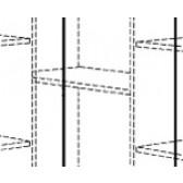 Einlegeboden Eck-Kleiderschrank, Varietta