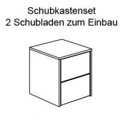 Schubkastenset 2 S für Zweitürer, Ylvie (2 Schubladen + 1 Utensilienschale)