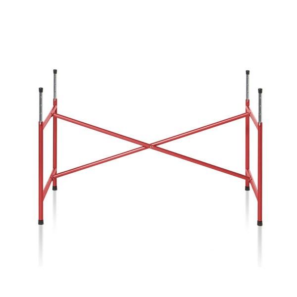 Kindertischgestell in rot lackiert