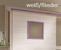 Hüttenaufbau weiß/flieder
