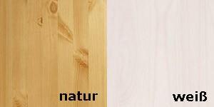 Kombination natur/weiß lasiert
