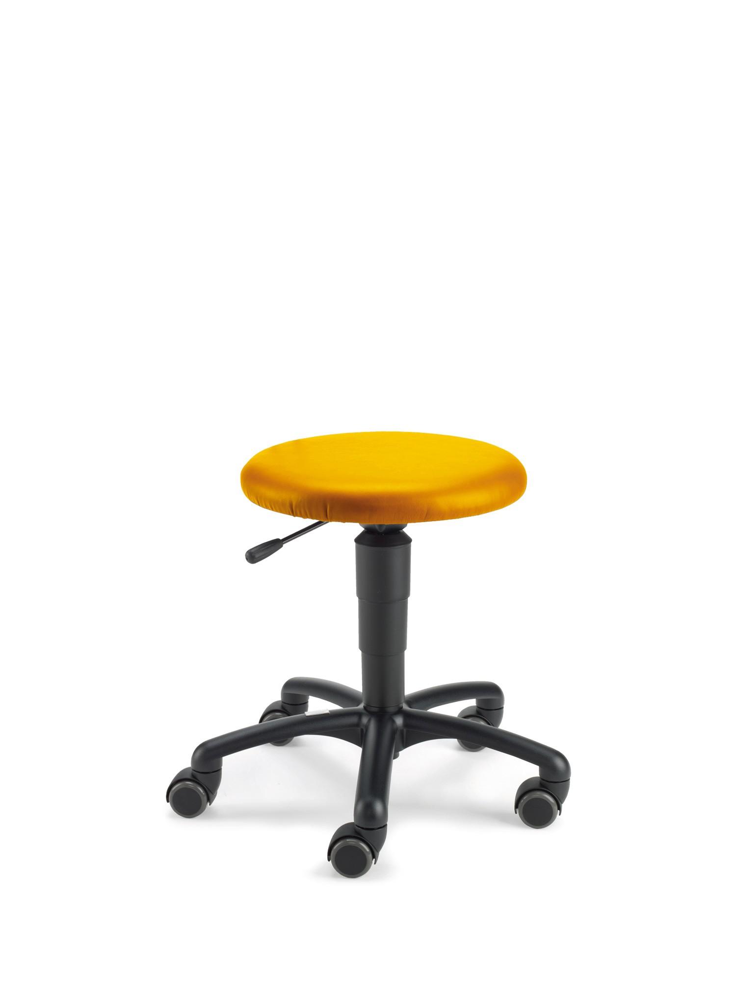 Beispiel mit Kunstlederbezug gelb (Farbe nachgestellt)