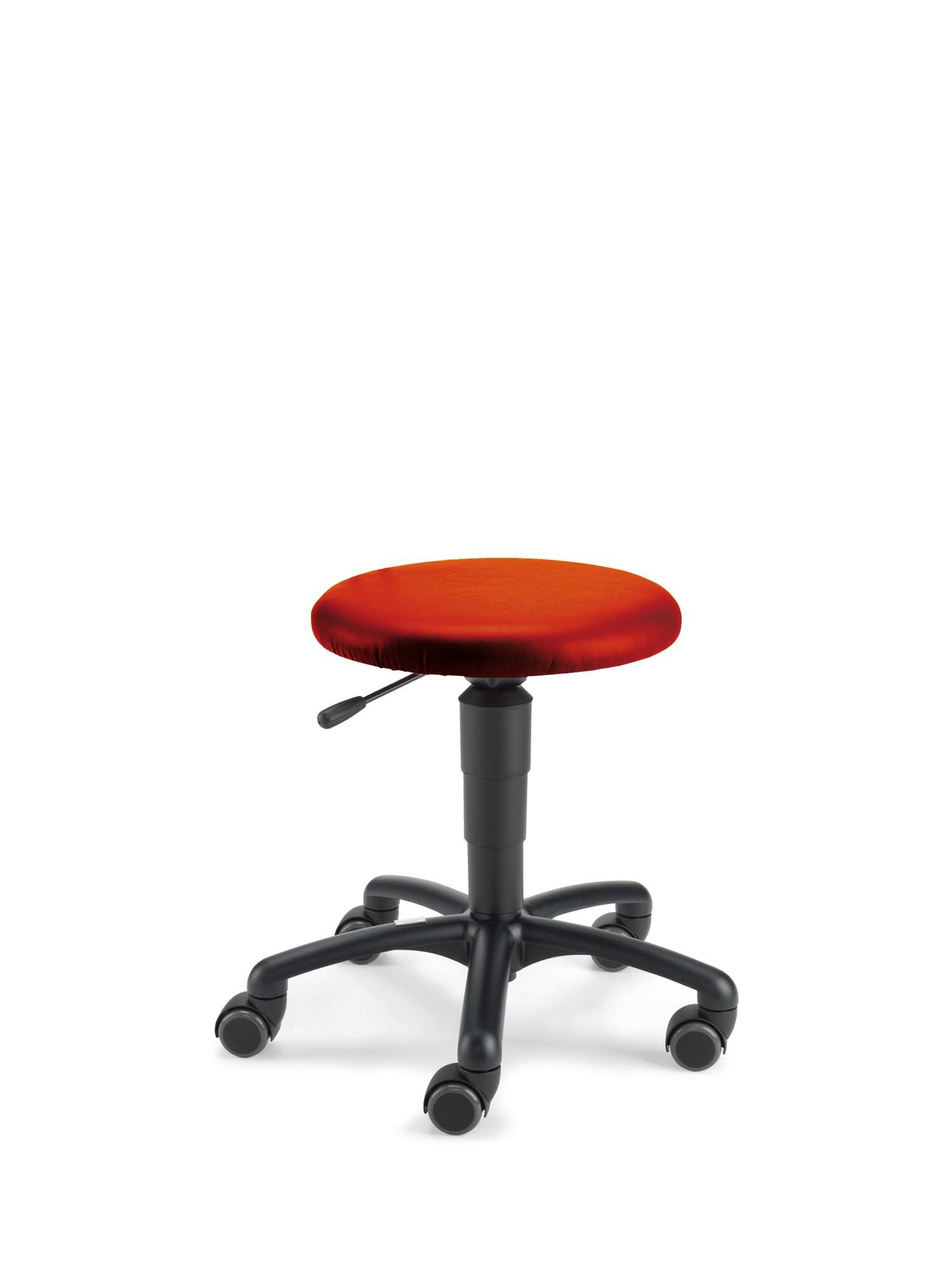 Beispiel mit Kunstlederbezug rot (Farbe nachgestellt)